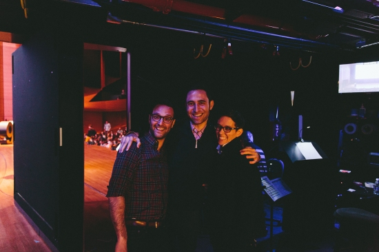 Backstage with Matias, Scott and Jocelyn.