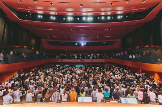 A photograph of the audience after my talk. I asked everyone to turn around except for one gentlemen in the middle. I didn't catch his name.