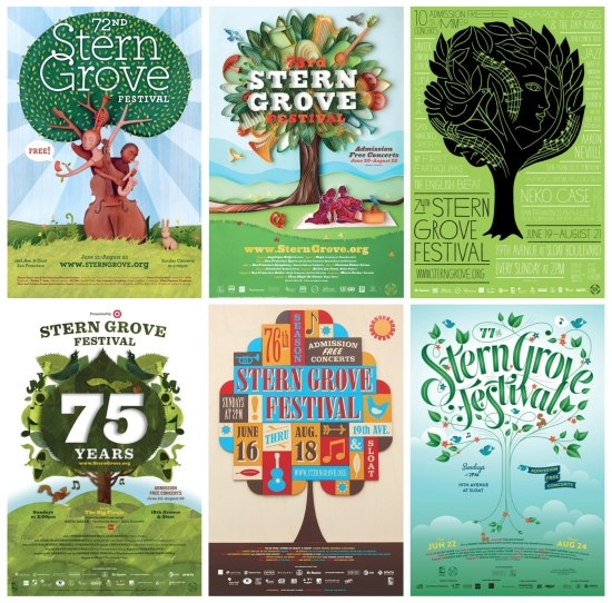 Stern Grove Festival Posters, Art Directed by Simmons.