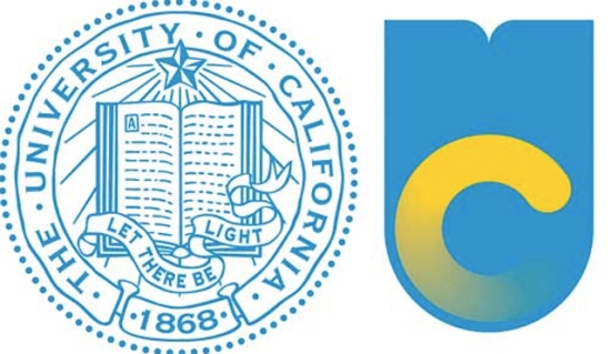 Left: The old UC logo. Right: The new iteration that was eventually scrapped.