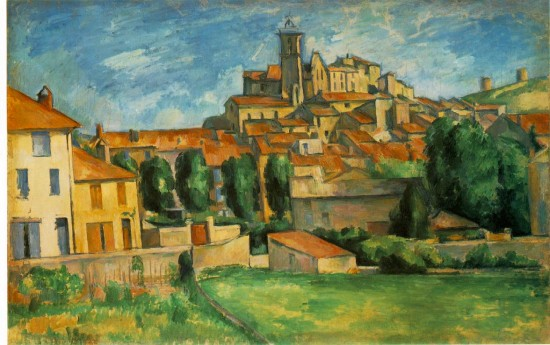Science says tktk when you look at this landscape painting (Gardanne by Paul Cézanne)