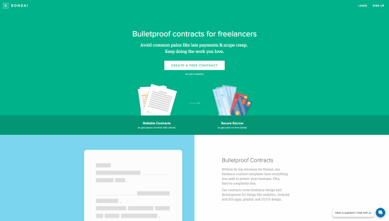 Bulletproof contracts  simple e signing  integrated escrow for freelancers   Bonsai