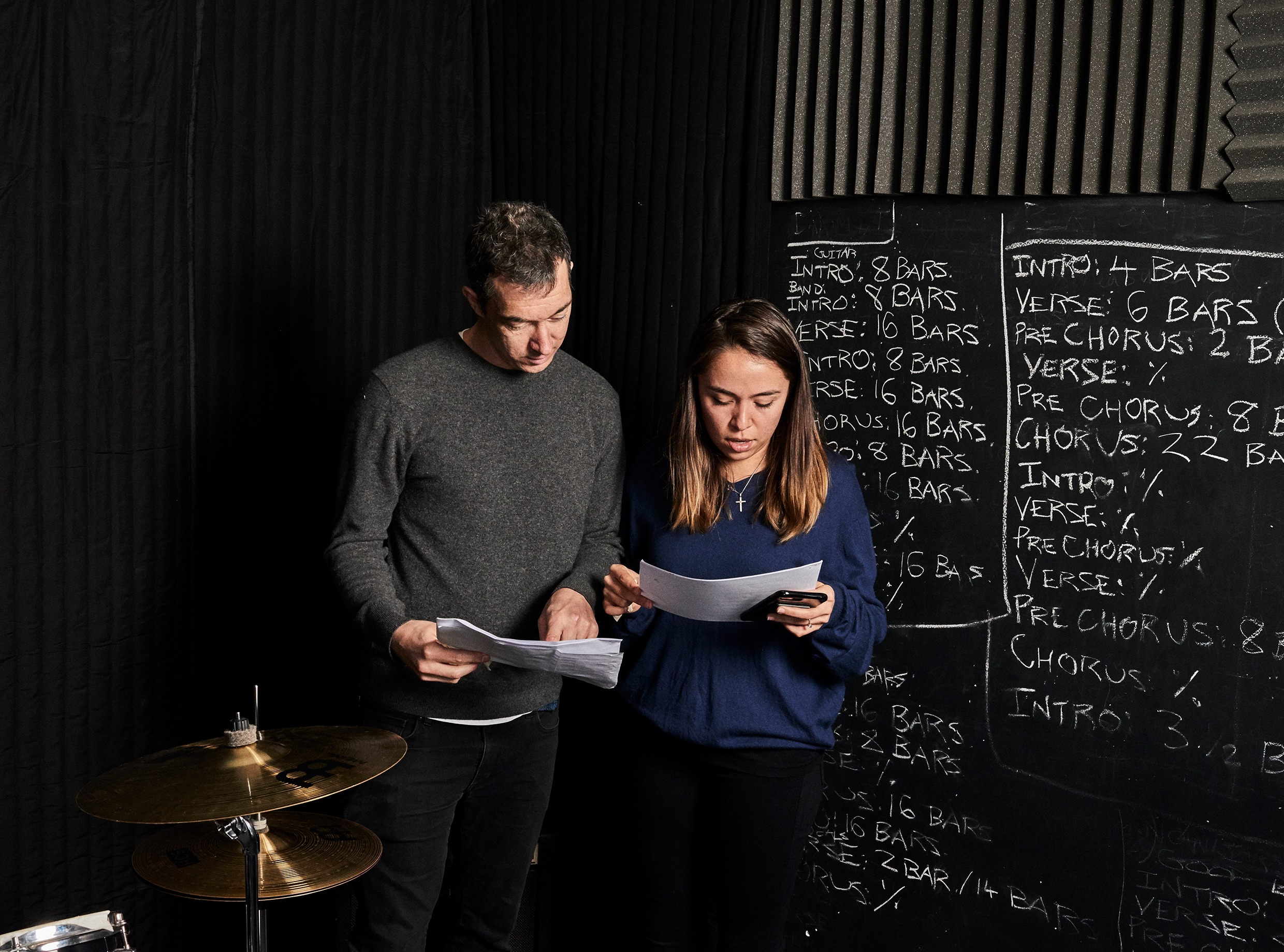 Metajive's Dave and April Benton deep in paperwork. Photographed by Franz Steiner.