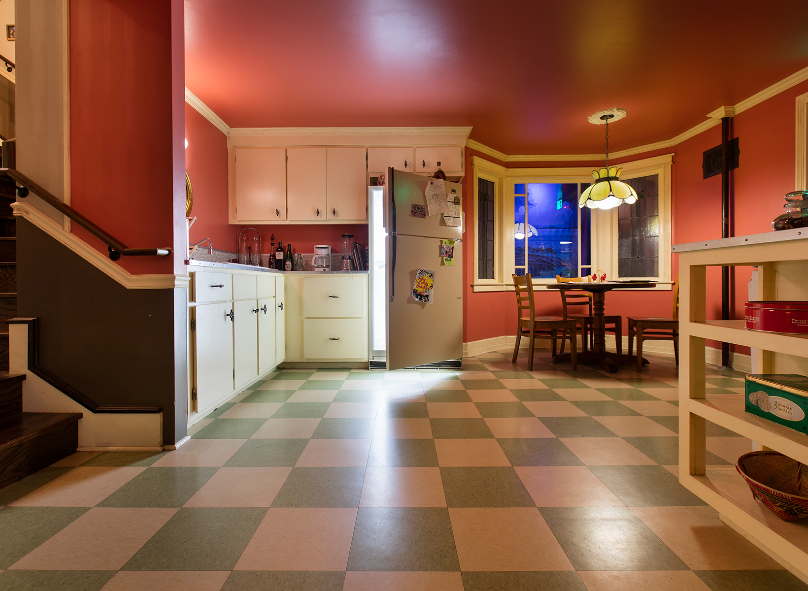 A kitchen scene from Meow Wolf's immersive art installation that bridges the real and imaginary world. Photo courtesy of Meow Wolf.