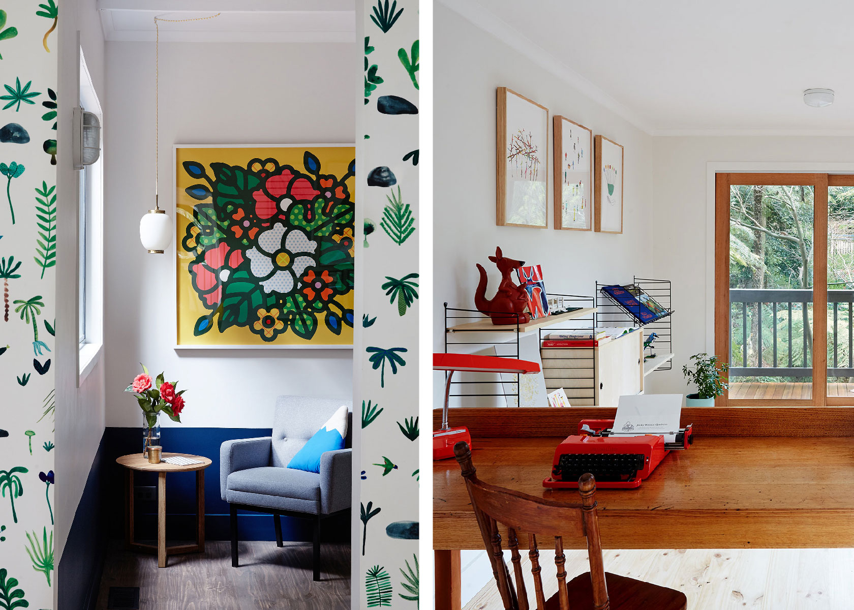 The Jacky Winter Gardens house is full of designs from creators all over the world.