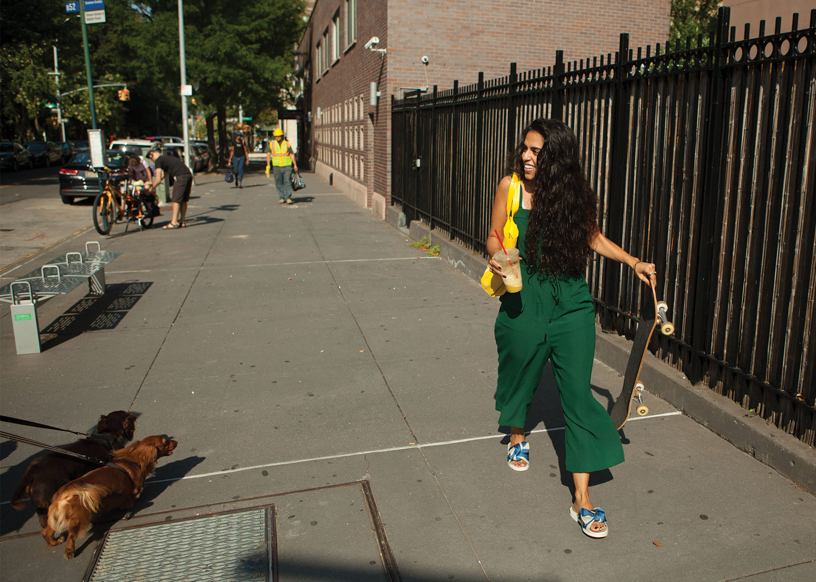 Mona Chalabi takes a walk down the street in her Brooklyn neighborhood.