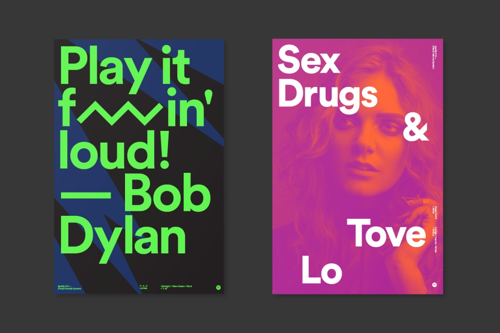 Branding materials from Spotify.