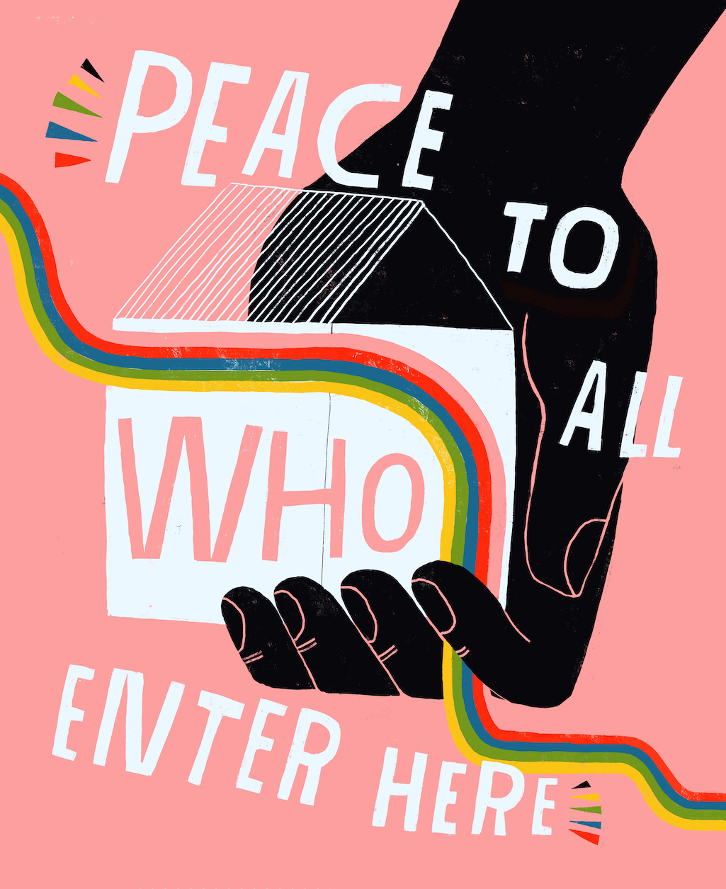 Lisa Congdon Peace to All Who Enter Here print