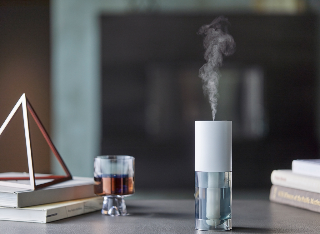 A scent diffuser on a table